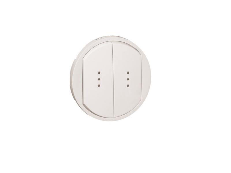 Лицевая панель Legrand Celiane для выключателя двойного с индикацией белый 68004 legrand legrand celiane беж лицевая панель для звонка 066273