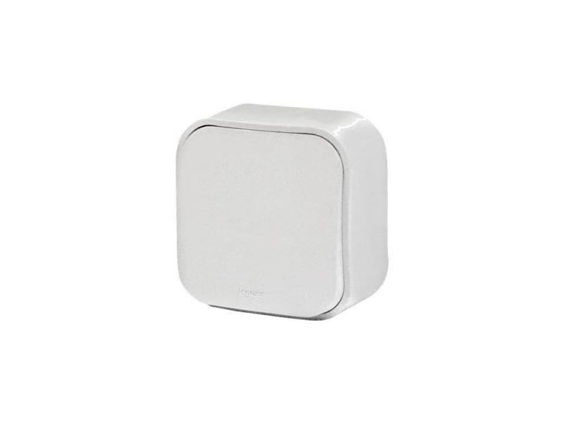 Одноклавишный переключатель Quteo 10A белый 782204 переключатель legrand quteo двухклавишный серый 782331