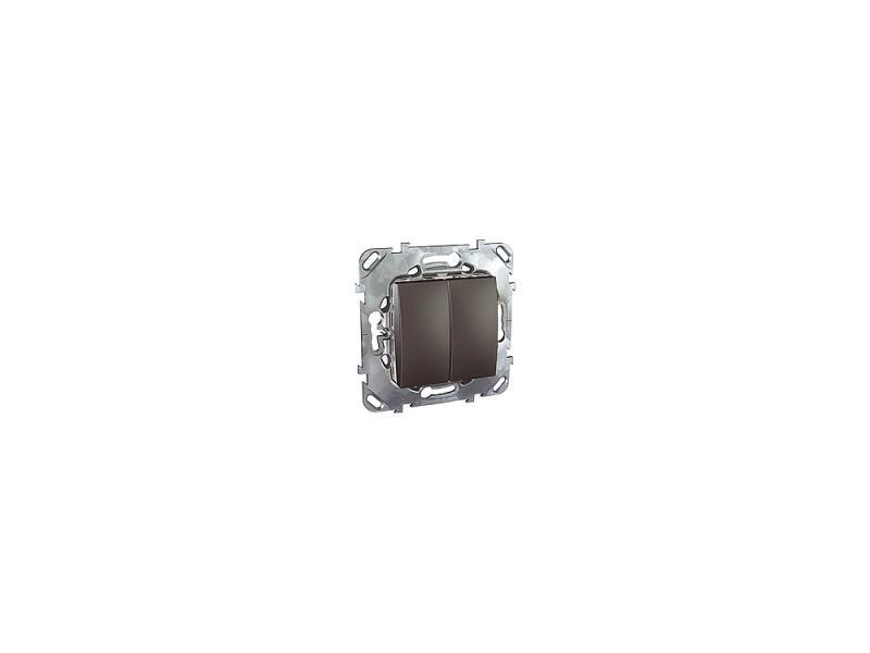 Переключатель Schneider Electric 2-клавишный графит MGU5.213.12ZD