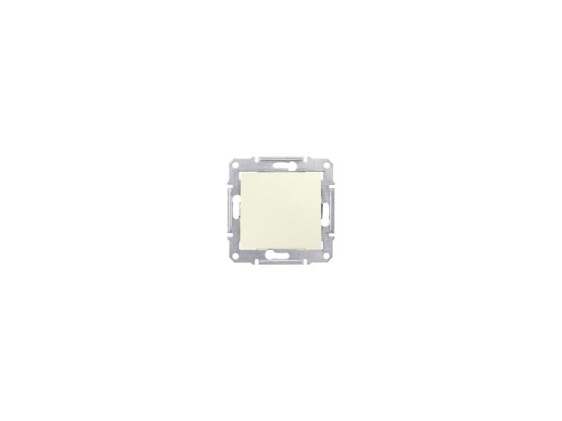 Переключатель Schneider Electric Sedna 1-клавишный бежевый SDN0400147 переключатель jung ecoprofi 1 клавиша цвет бежевый