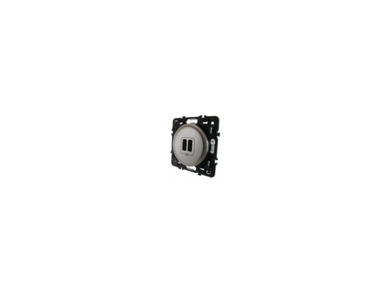 Клавиша Legrand Celiane для двойной USB-розетки титан 68556