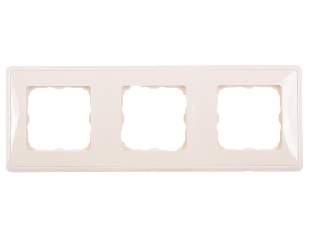 Рамка Legrand Cariva 3 поста горизонтальный/вертикальный монтаж слоновая кость 773753