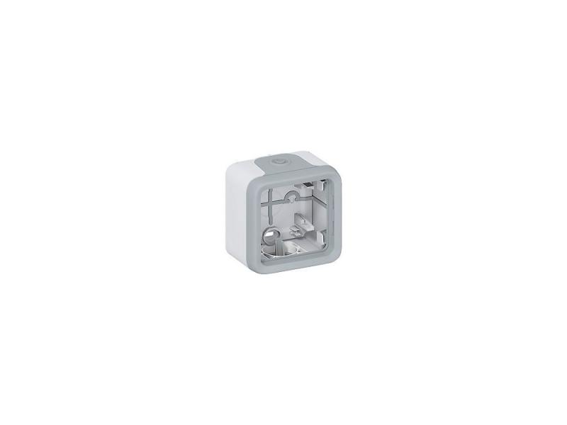 Электромонтажная коробка Legrand Plexo 1 пост серый 69651 электромонтажная коробка legrand plexo 1 пост серый 69651