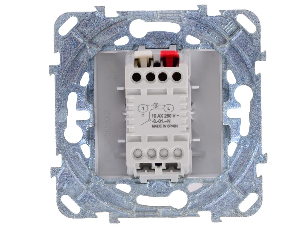 Выключатель Schneider Electric 1-клавишный с индикатором белый MGU5.201.18NZD