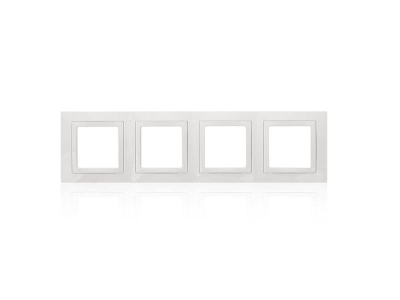 Рамка 2 пост белый с декоративным элементом Schneider Electric Unica MGU2.008.18