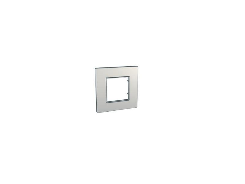 Рамка UNICA QUADRO 1 пост сребро MGU6.702.55