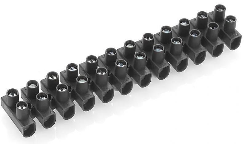 Блок клеммников Legrand 2.5-4мм 12 секций черный 34211