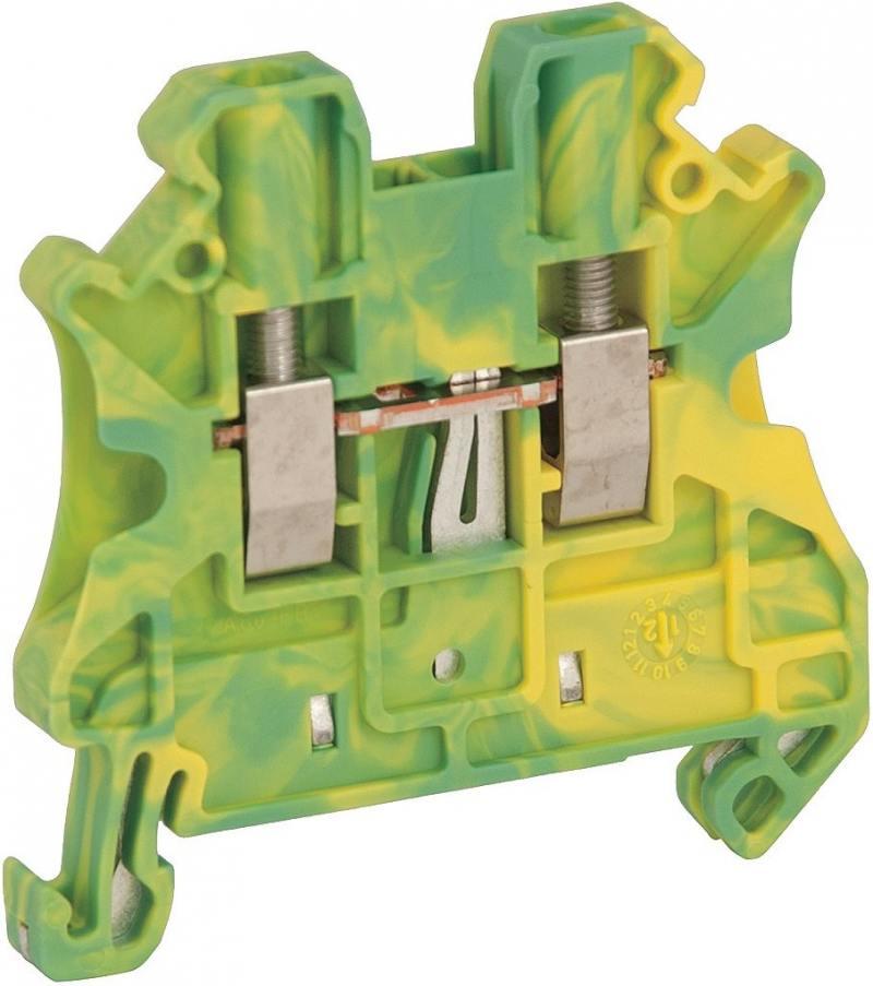 Клеммник Schneider Electric винтовой с заземлением сечением провода 2.5мм 2 точки подключения NSYTRV