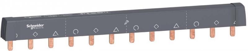 Шинка гребенчатая Schneider Electric 12 модулей 18мм A9XPH312 шкаф электрический напольный schneider electric ip55 27 модулей 8307
