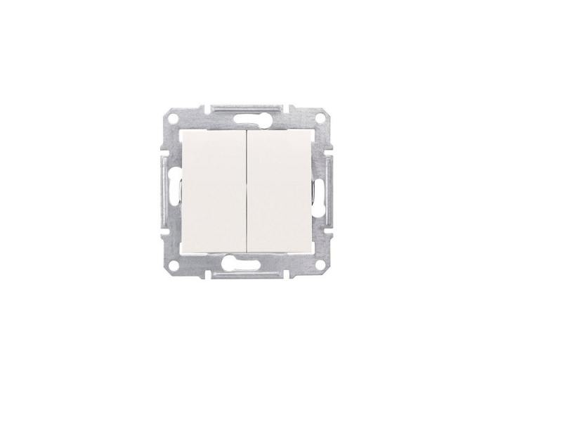 Выключатель Schneider Electric 2-клавишный бежевый SDN0300147 выключатель двухклавишный наружный бежевый 10а quteo