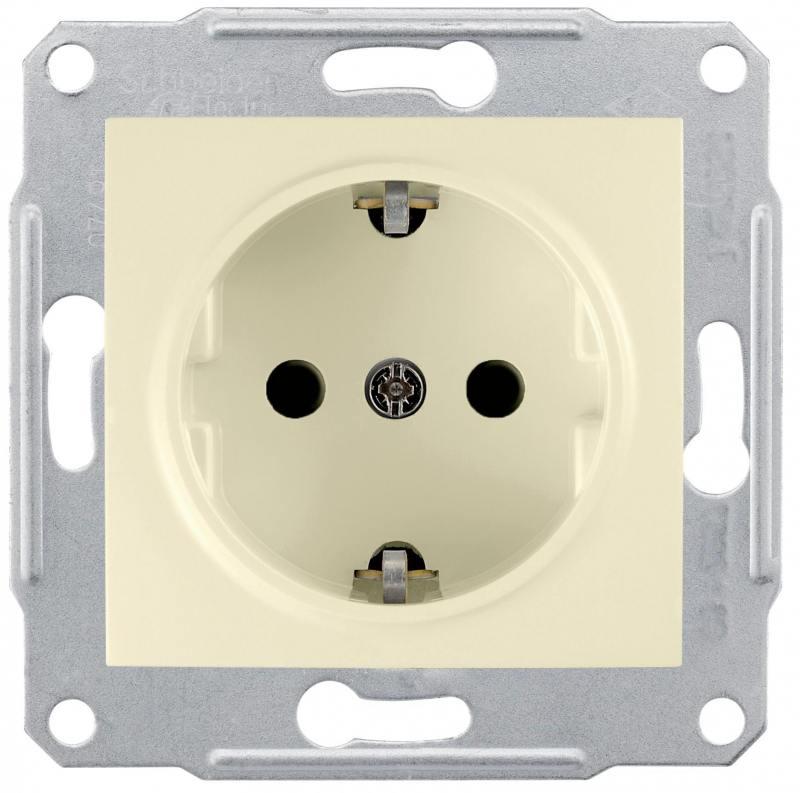 Розетка Schneider Electric электрическая бежевый SDN3000547