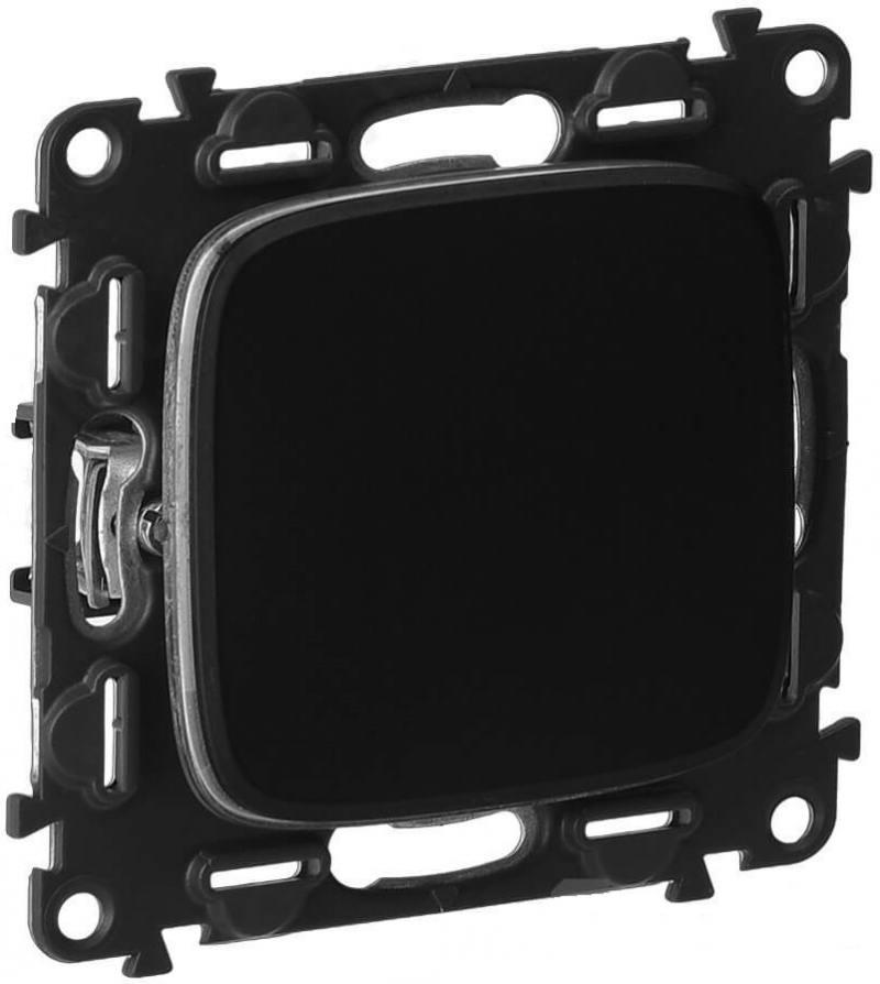 Выключатель Legrand Valena Allure 10АХ 250В с лицевой панелью безвинтовые зажимы антрацит 752911 выключатель legrand valena allure 10ах 250в с лицевой панелью безвинтовые зажимы антрацит 752911