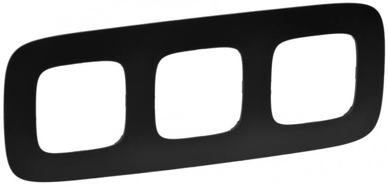 Рамка Legrand Valena Allure 3 поста матовый черный 754403