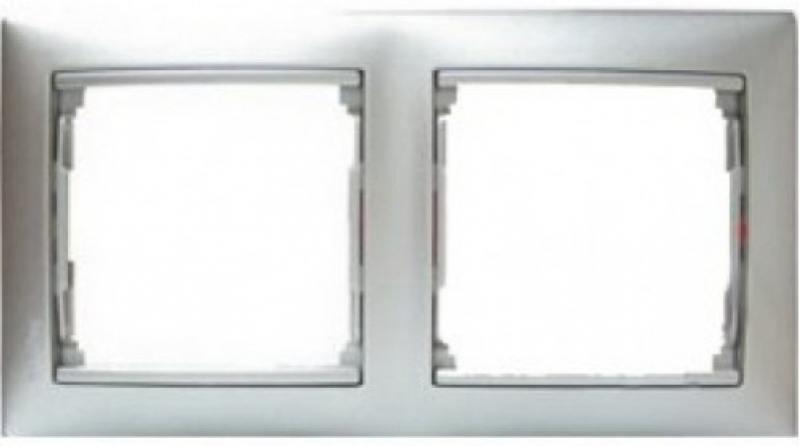 Рамка Legrand Valena 2 поста алюминий матовый 770332 рамка legrand valena 2 поста алюминий серебряный штрих 770352