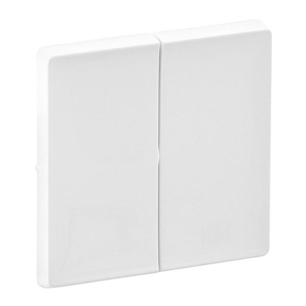 Лицевая панель Legrand Valena Life для выключателя 2-клавишного белый 755020