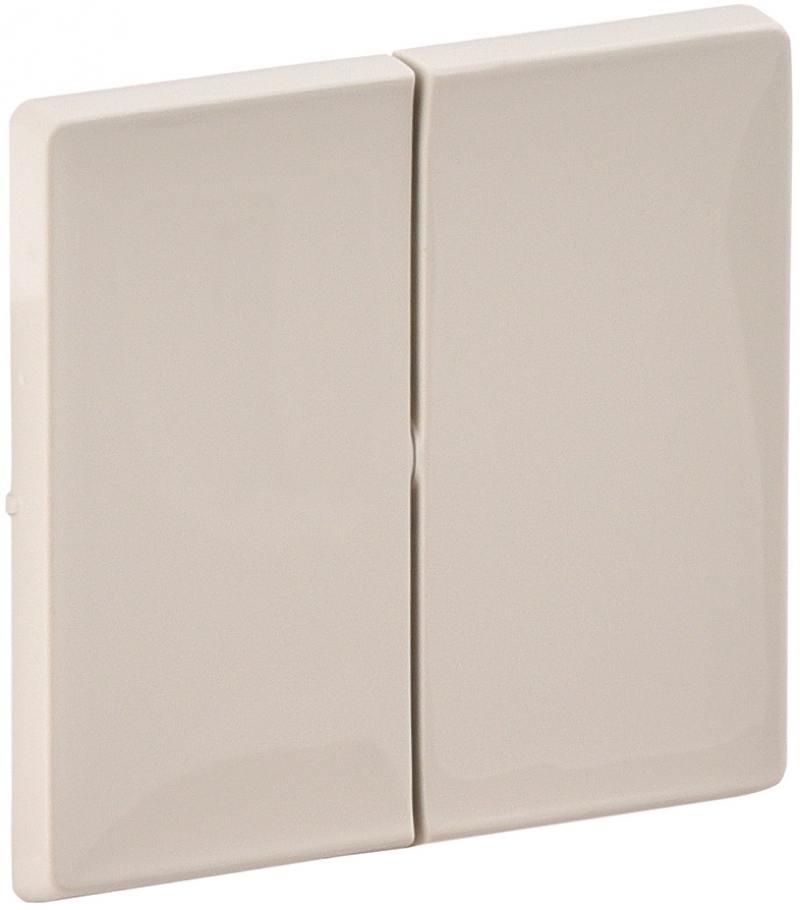 Лицевая панель Legrand Valena Life для выключателя 2-клавишного слоновая кость 755021