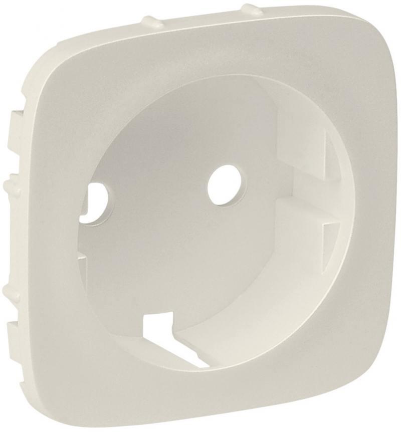 Лицевая панель Legrand Valena Allure для розетки 2К+З слоновая кость 755206 лицевая панель legrand valena allure силовой розетки 2к белый 754975