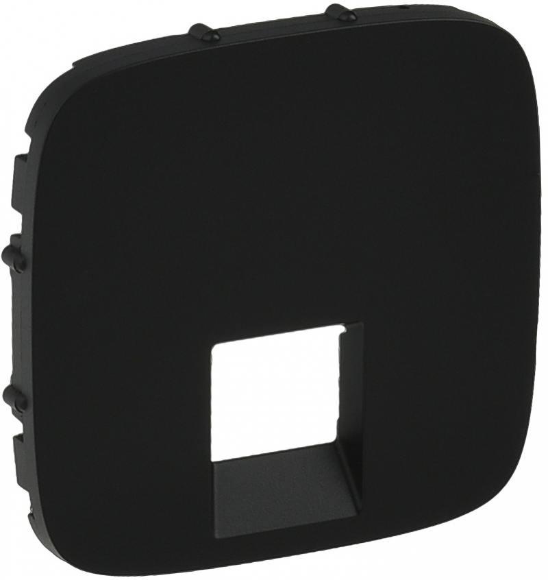 Картинка для Лицевая панель Legrand Valena Allure для одиночных телефонных/информационных розеток антрацит 755418