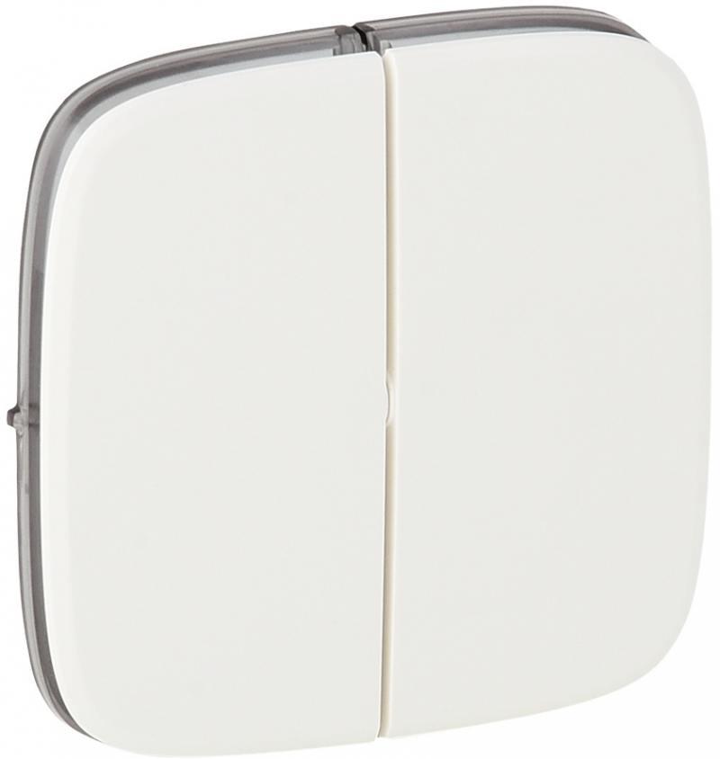 Лицевая панель Legrand Valena Allure для выключателя 2-клавишного белый 755025