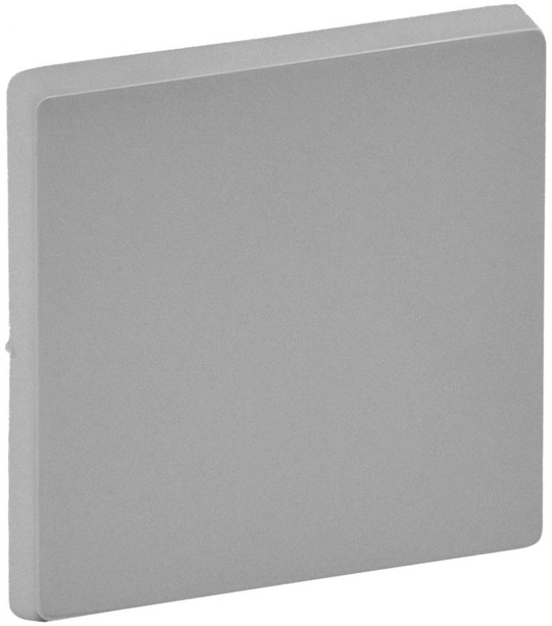 Лицевая панель legrand valena life для выключателя 1-клавишного алюминий 755002