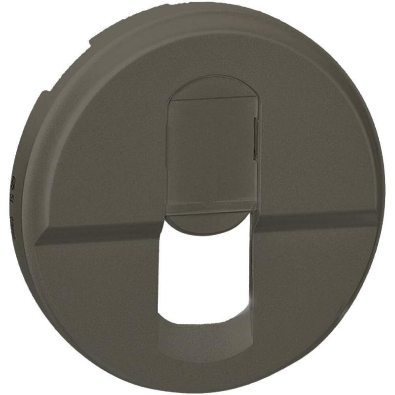 Лицевая панель Legrand Celiane для розетки RJ45 графит 67951