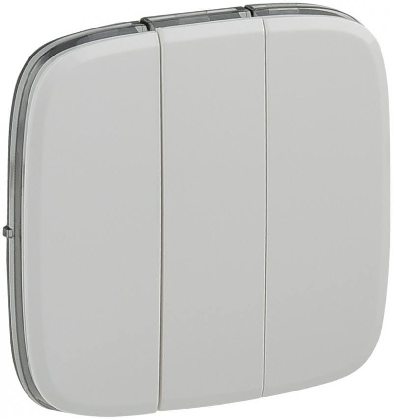 цены Лицевая панель Legrand Valena Allure для выключателя 3-клавишного белый 755035