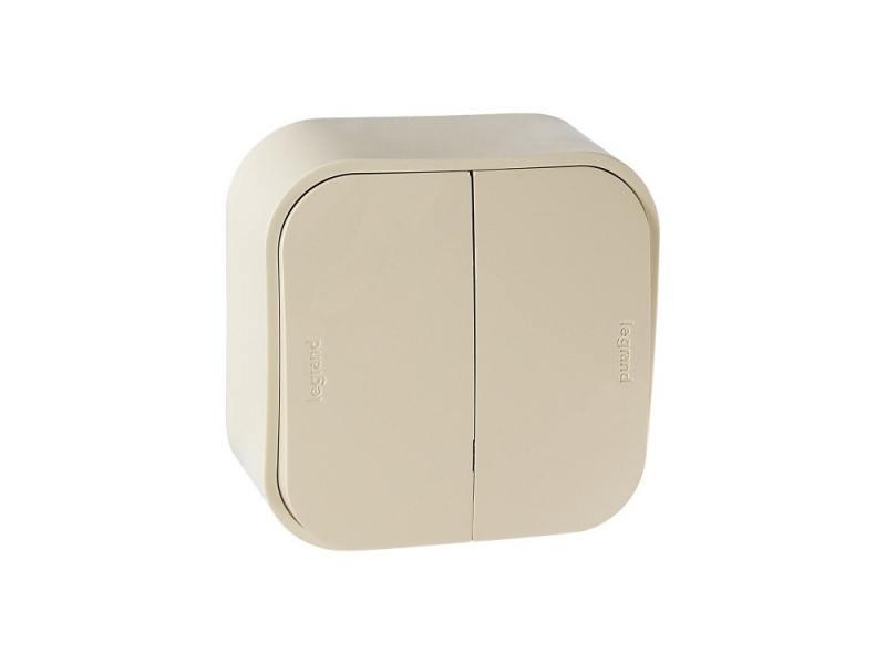 Выключатель Legrand Quteo 10А 2 клавиши слоновая кость 782232 выключатель 2 клавишный наружный ip44 белый 10а quteo