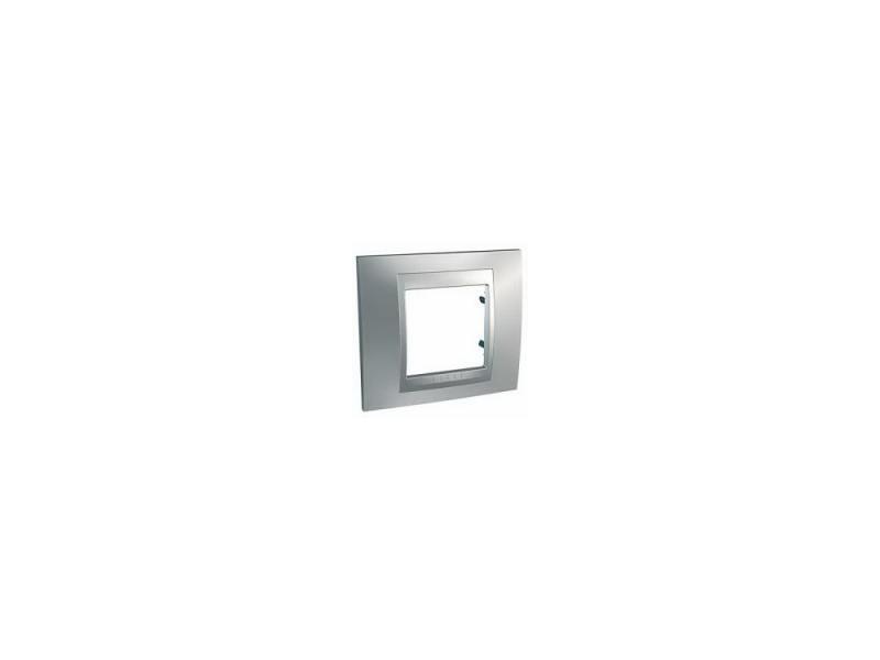 Рамка 1 пост серебристый Schneider Electric MGU66.002.038 рамка 4 пост серебристый schneider electric mgu68 008 7a2