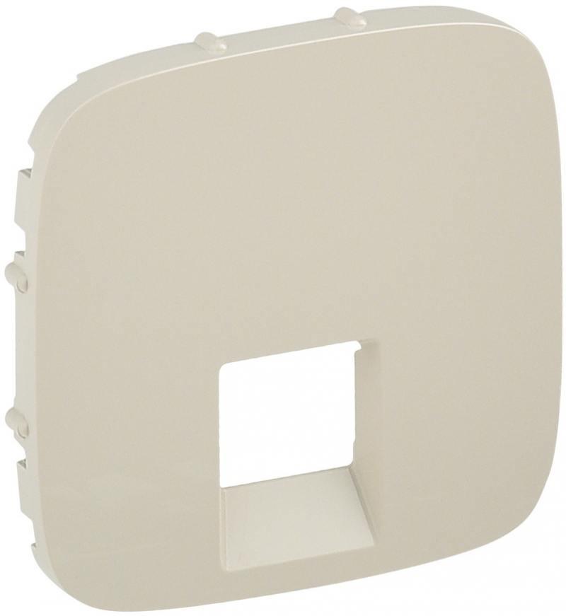 Лицевая панель Legrand Valena Allure для одиночных телефонных/информационных розеток cлоновая кость