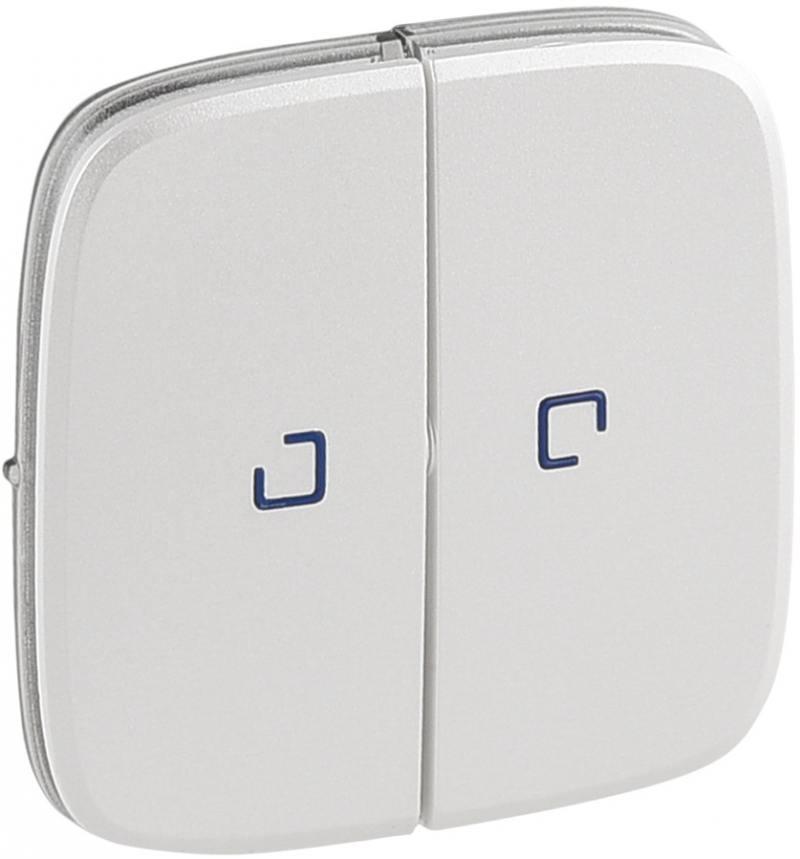 Лицевая панель Legrand Valena Allure для выключателя 2-клавишного с подсветкой жемчуг 755229 клавиша legrand для выключателя 2 клавишного белый 777012