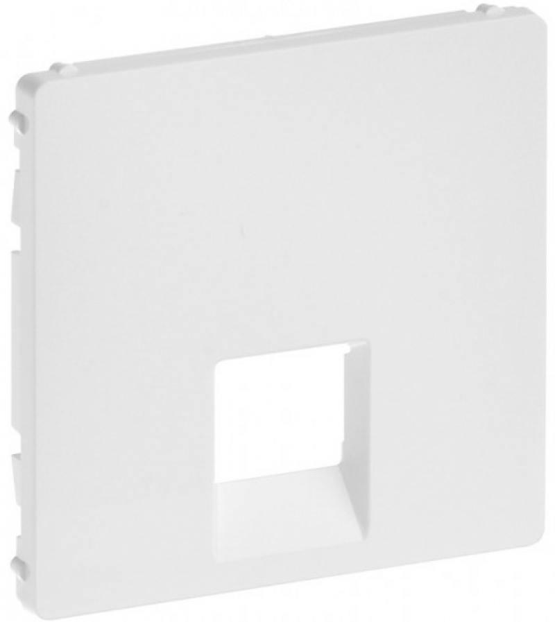 Картинка для Лицевая панель Legrand Valena Life для одиночных телефонных/информационных розеток белый 755410