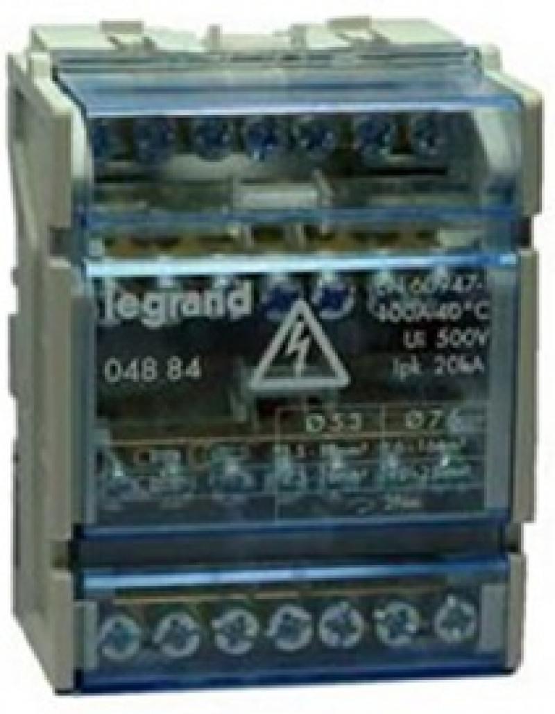 Кросс-модуль Legrand 100А 4 полюса 4 модуля 4884 anam legrand anam legrand zunis бежевый рамка 2 ая тлф2 тлф2 4 модуля 7101 84i