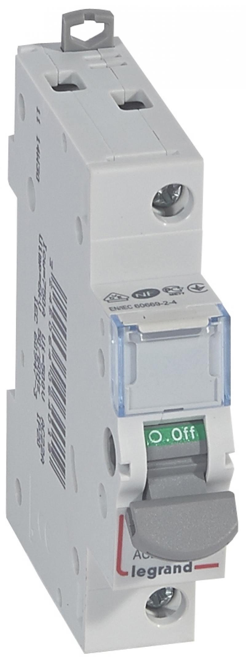 Выключатель-разъединитель Legrand DX3 1П 20A 406401