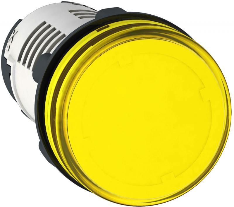 Лампа сигнальная Schneider Electric 22мм 24В желтый XB7EV05BP лампа сигнальная abb 230bcl 523r красная