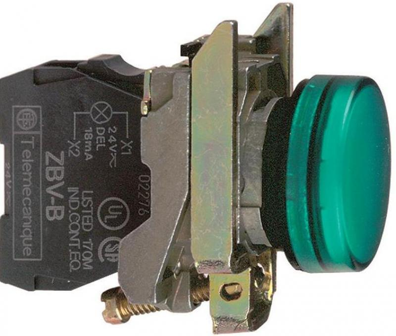 Лампа сигнальная Schneider Electric 22мм 24В зеленый XB4BVB3 блок светодиодный schneider electric 24в красный zbvb4