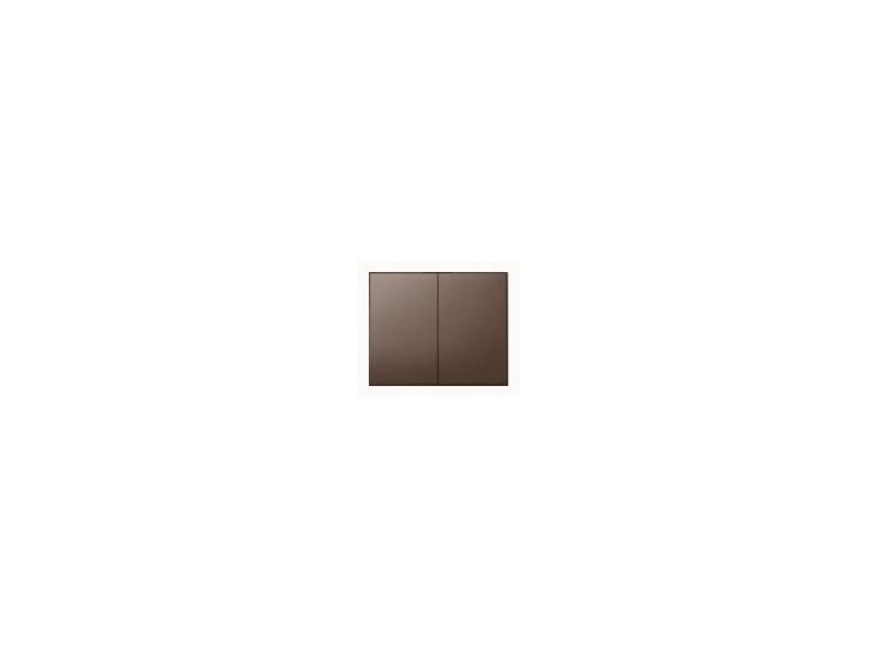 Лицевая панель Legrand Galea Life для двойного выключателя темная бронза 771212