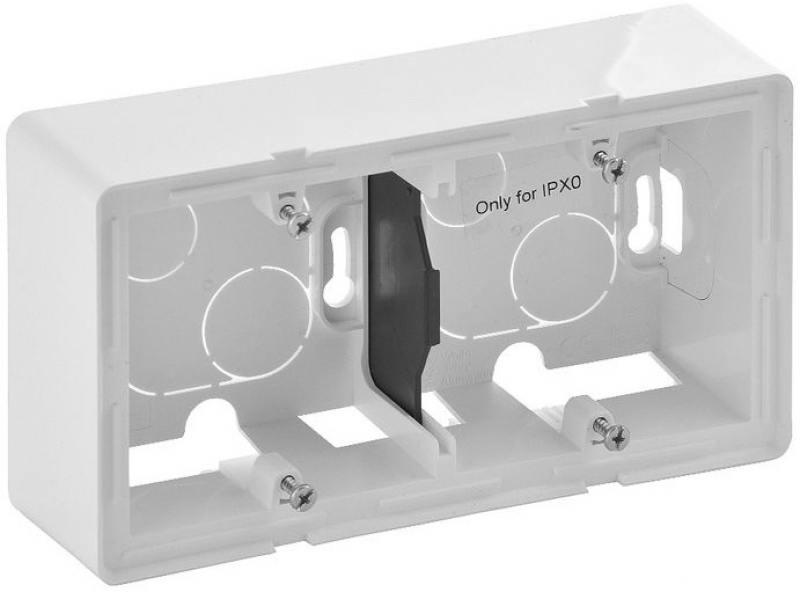 Коробка Legrand Valena Life для накладного монтажа 2-постовая белый 754192