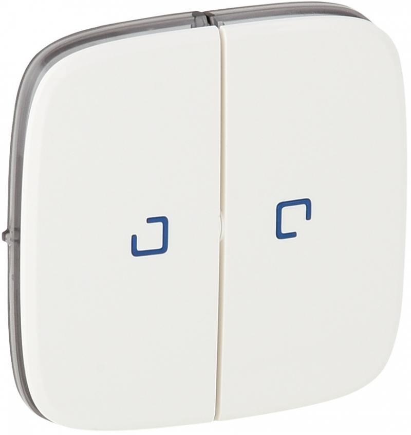 Лицевая панель Legrand Valena Allure для выключателя 2-клавишного с подсветкой белая 755225
