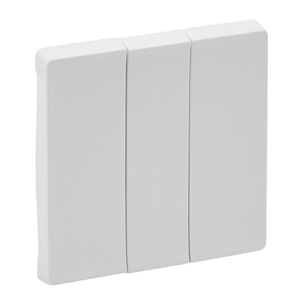 Лицевая панель Legrand Valena Life для выключателя трехклавишного белый 755030