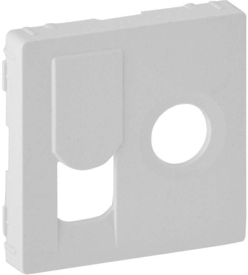 Лицевая панель Legrand Valena Life для розетки TV-RJ45 белый 754830