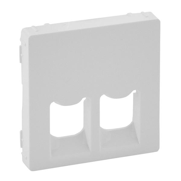 Лицевая панель Legrand Valena Life для двойных телефонных/информационных розеток белый 755420