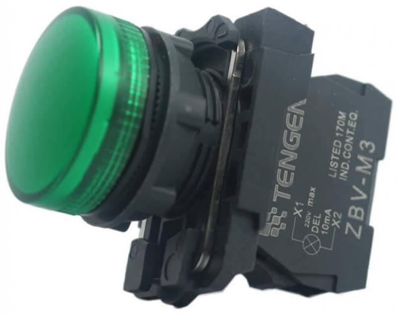 Лампа сигнальная Schneider Electric 22мм 230-240В зеленый XB5AVM3 лампа сигнальная abb 230bcl 523r красная