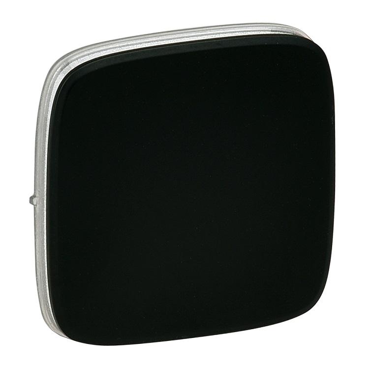Лицевая панель Legrand Valena Allure для переключателя промежуточного антрацит 755078 лицевая панель legrand valena allure для выключателя двухклавишного с подсветкой антрацит 755228