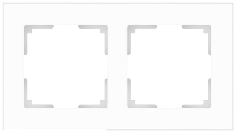 Рамка Favorit на 2 поста белая WL01-Frame-02 4690389061219 рамка favorit на 2 поста белая wl01 frame 02 4690389061219