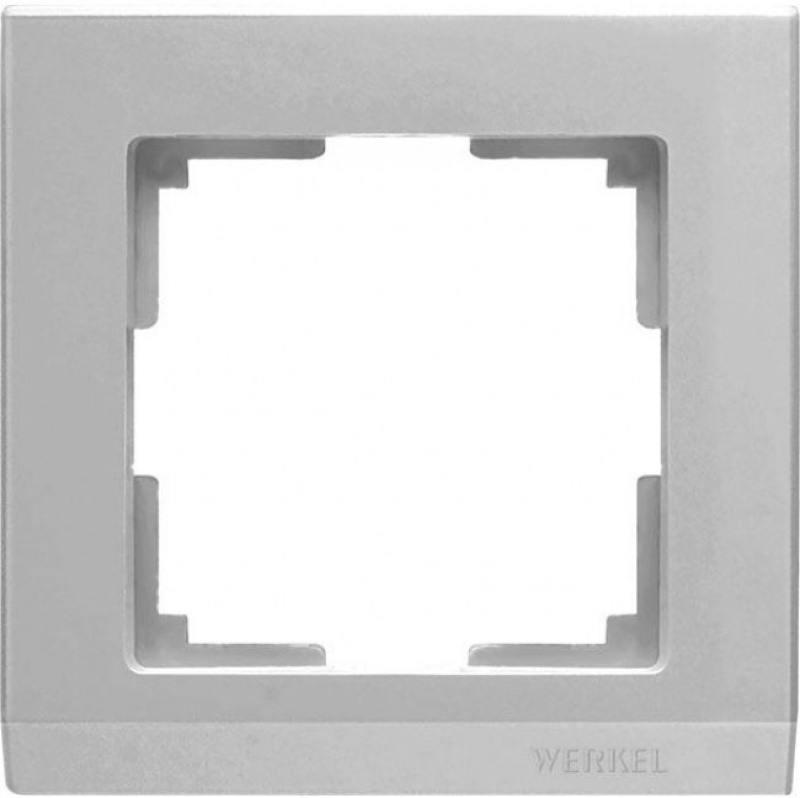 Рамка Stark на 1 пост серебряный WL04-Frame-01 4690389063688