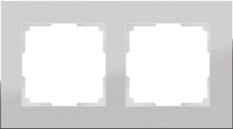 Рамка Aluminium на 2 поста алюминий WL11-Frame-02 4690389073632