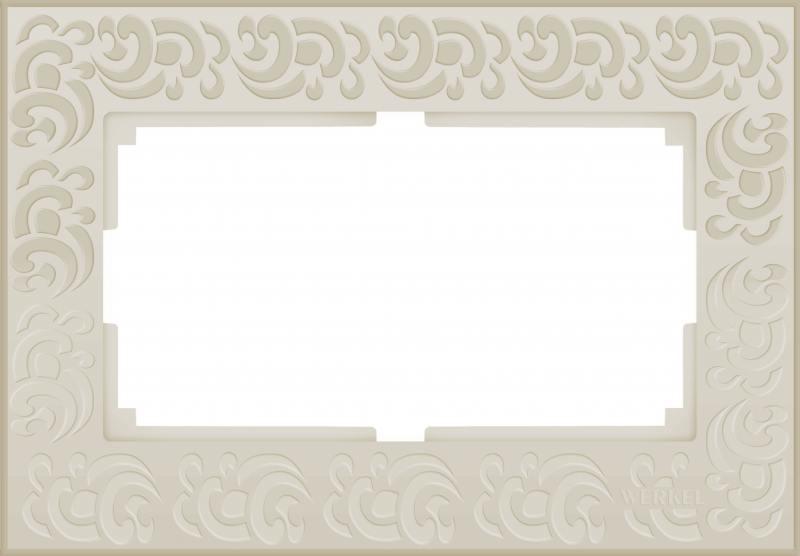 Рамка Flock для двойной розетки слоновая кость WL05-Frame-01-DBL-ivory 4690389073175