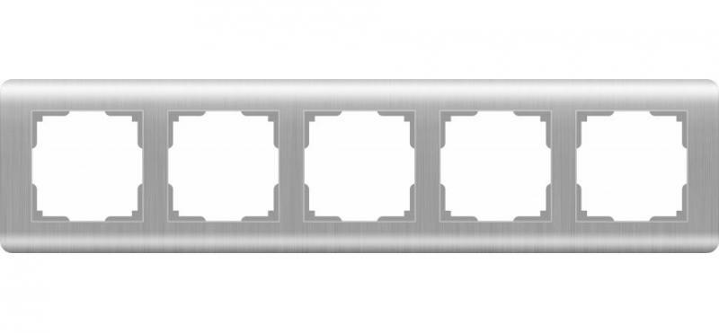 Рамка Stream на 5 постов серебряный WL12-Frame-05 4690389076404 цена
