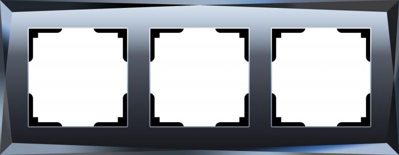 Рамка Diamant на 3 поста черный WL08-Frame-03 4690389054419 diamant мозаика собака