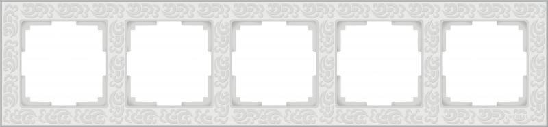 Рамка Flock на 5 постов белая WL05-Frame-05-white 4690389059391 рамка flock на 5 постов белая werkel 1022956